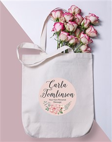 gifts: Personalised Floral Wonder Tote Bag!