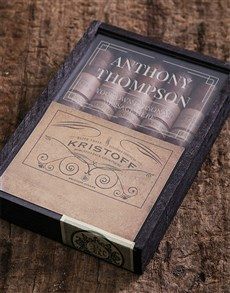 gifts: Personalised Kristoff Cigar Box!