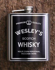gifts: Personalised Whisky Hip Flask!