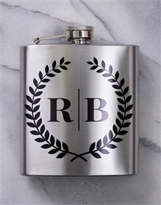 gifts: Personalised Monogram Hip Flask!