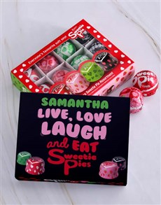 gifts: Personalised Live Laugh Sweetie Pie Box!