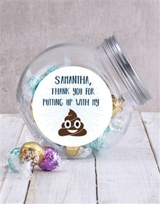 gifts: Personalised Putting Up With Me Candy Jar!