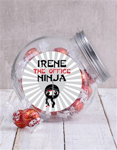 gifts: Personalised Office Ninja Ladies Candy Jar!
