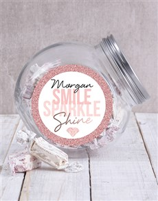 gifts: Personalised Smile Sparkle Candy Jar!