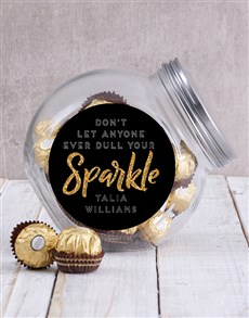 gifts: Personalised Sparkle Candy Jar!