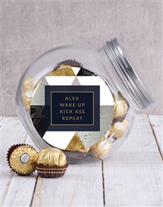 gifts: Personalised Wake Up Candy Jar!