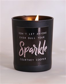 gifts: Personalised Your Sparkle Candle!
