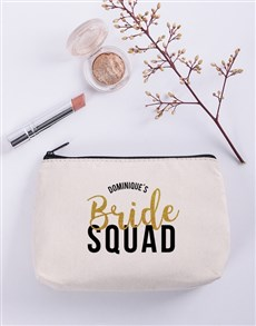 gifts: Personalised Bridesmaid Cosmetic Bag!
