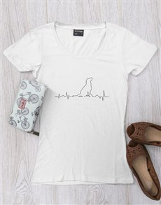 gifts: Personalised Dog Heartbeat T Shirt!