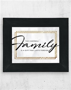 gifts: Personalised Family Frame!