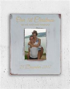 gifts: Personalised Couples First Christmas Frame!