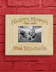 gifts: Personalised Christmas Memories Frame!
