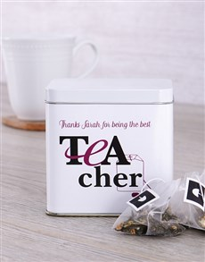 gifts: Personalised Teacher Tea Tin!
