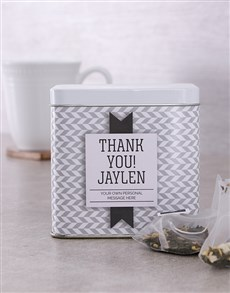 gifts: Personalised Thank You Tea Tin!
