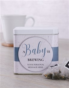 gifts: Personalised New Baby Tea Tin!