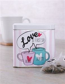 gifts: Personalised First Sip Tea Tin!