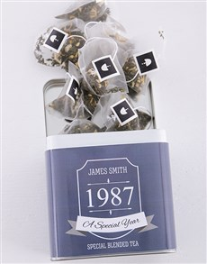 gifts: Personalised Special Year Tea Tin!