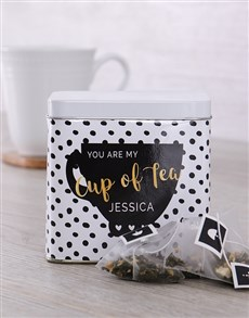 gifts: Personalised You Are My Cup Tea Tin!