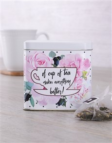 flowers: Personalised Get Well Tea Tin!