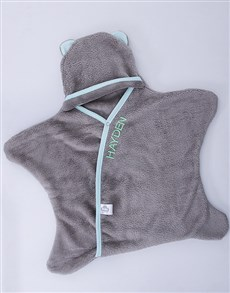 gifts: Personalised Grey and Mint Star Wrap!