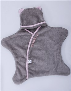 gifts: Personalised Grey and Pink Star Wrap!
