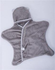 gifts: Personalised Grey Star Wrap!
