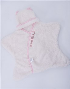 gifts: Personalised Natural and Pink Star Wrap!