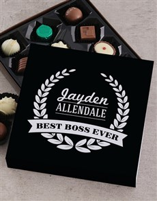 gifts: Personalised Best Boss Choc Tray!