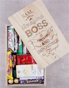 gifts: Personalised Amazing Boss Chocolate Crate!