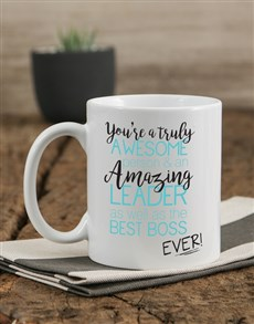 gifts: Personalised Best Boss Mug!