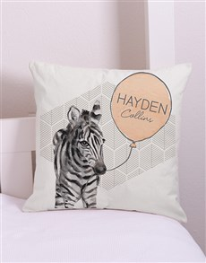 gifts: Personalised  Zebra Scatter Cushion!