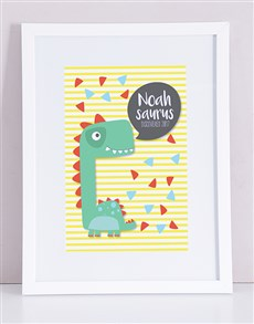 gifts: Personalised Framed Saurus Print!