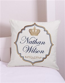 gifts: Personalised Prince Scatter Cushion!