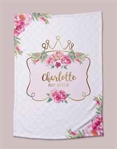 gifts: Personalised Princess Baby Fleece Blanket!