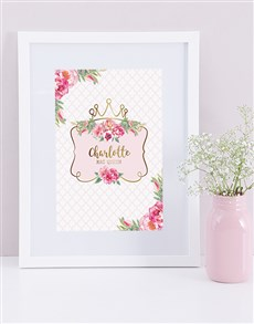 gifts: Personalised Framed Princess Print!