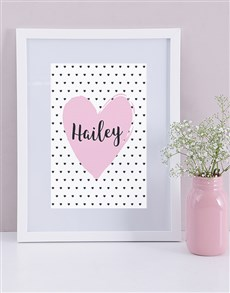 gifts: Personalised Framed Heart Print!