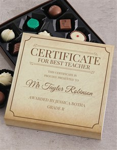 gifts: Personalised Best Teacher Choc Tray!