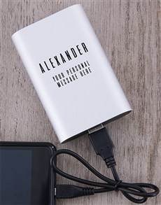 gifts: Personalised Dynaport Powerbank!