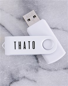 gifts: Personalised White 8G USB !