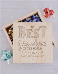 gifts: Personalised Best Grandma Lindt Tray!