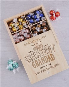 gifts: Personalised Greatest Grandad Lindt Tray!