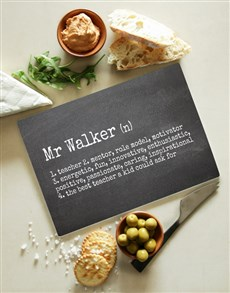 gifts: Personalised Teacher Glass Chopping Board!