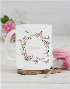 gifts: Personalised Butterfly Grandma Mug!