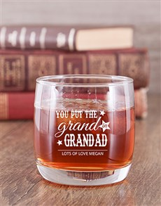 gifts: Personalised Grand Grandad Whiskey Glass!