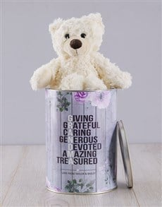gifts: Personalised Grandma Teddy Tin!