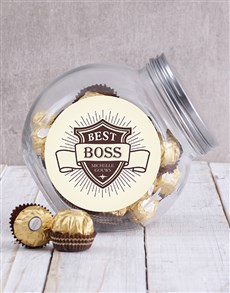 gifts: Personalised Boss Shield Candy Jar!