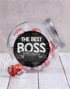 gifts: Personalised The Best Boss Candy Jar!