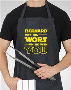 gifts: Personalised Star Wors Apron!