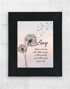 gifts: Personalised Begin Each Day Framed Art!