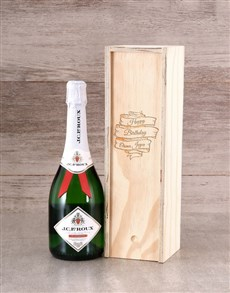 gifts: Personalised Birthday Champagne Crate!